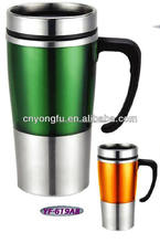 stainless steel travel mug with various kinds logos