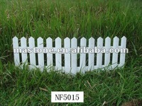 White painting Wooden picket fence