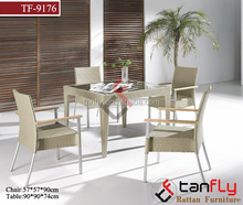 high quality hot sale rattan garden furniture wicker veranda dining set