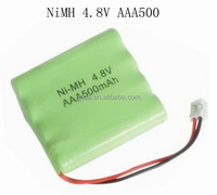 NiMH Battery 4.8V 550MAH CORDLESS PHONE BATTERY MANUFACTURER WITH CE,ROHS,UL CERTIFICATES