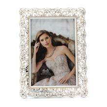 Hechos a mano photo collage marco colgante de plata photo frame marco de fotos blanco