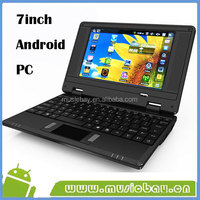 7inch mini laptop with keyboard for Android OS 512MB/4GB WIFI CAMERA low price by paypal