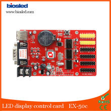 USB port ,USD disk p10 single color LED display screen controller card for scolling message board , factory price