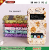 Newest high quality double Smart display window PU leather phone case for iPhone 6 4.7 inch
