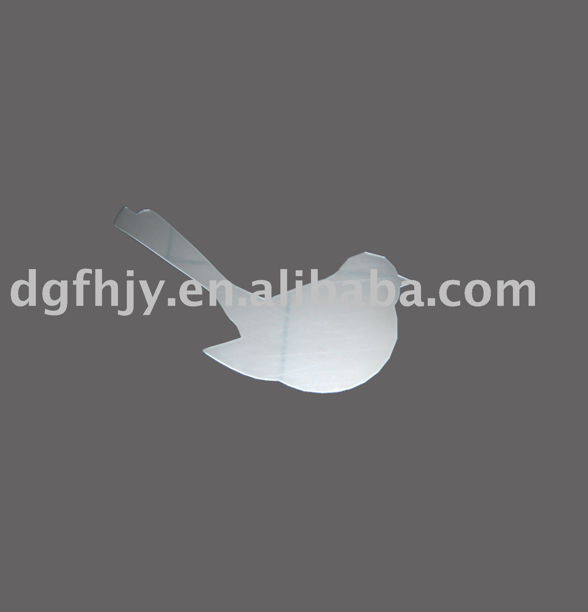 Espejo de acrílico etiqueta engomada de la forma del pájaro, Plástico espejo