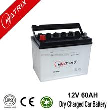 manufacturers 12v 60ah standard car battery dimensions