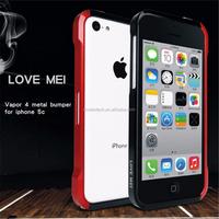 Original love mei Vapor 4 metal bumper for iPhone 5C, for iphone 5c aluminum bumper case red color