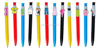 Factory price promotional plastic logo pen silver barrel clip promotional plastic logo pen