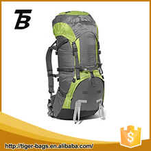 Outdoor sport nylon hiking camping green 30-40L backpack travel bag
