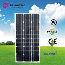 High power high quality long life monocrystalline 80w small watt solar panel