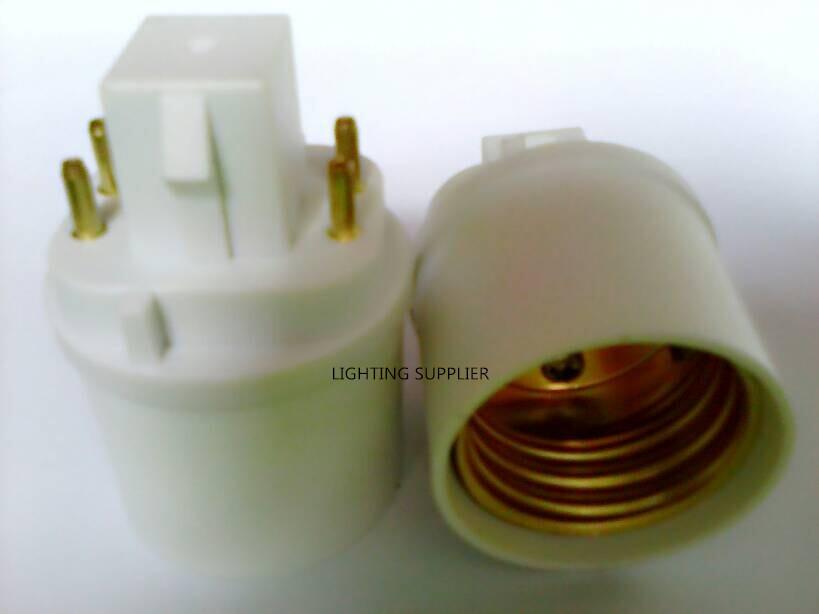 5pcs g24q-3 e26/e27 привели socket адаптер конвертер g24q-e26/e27 gx24q e26/e27 расширитель 4pin gx24q-e26/e27 лампа базовый держатель