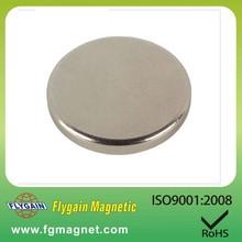round shape sintered neodymium magnet china manufacturer