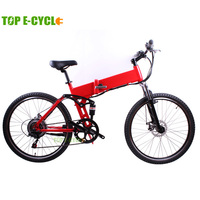 "TOP E-cycle 26"" inner battery folding electric mountain bike e-bike"