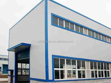 20*25*12m factory with single steel sheet as wall and roof with exhuast fan
