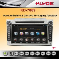 new products on the russian market android car dvd player for Legacy/outback with universal remote control