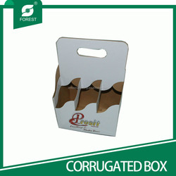 WHITE MATT CORRUGATED WINE CARRIERS FOR PACKING 6 BOTTLES BEER