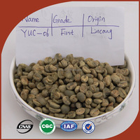 100% Organic Cultivated Raw Coffee Bean Arabica Green Coffee Bean Export