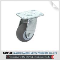 """Heavy duty TPR caster, 4"""" industrial swivel caster wheel"""