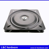 12inches square swivel plate steel lazy susan for table,blk
