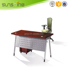 China Factory Supply Hot Sale Metal Frame Office Desk Melamine Open Office Desk With Locking Drawers