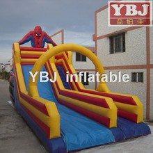 2015 china spiderman inflatable slide /commercial inflatable spiderman slide,inflatable playground with slide