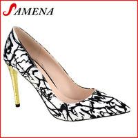 Hot fashion shoes new material high heel ladies elegant pumps