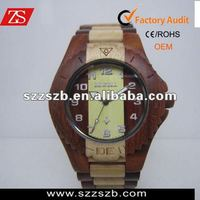 mix color wooden watches mens watch bewell sandalwood and maple watches