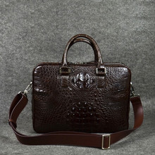 real crocodile Messenger Bag _crocodile men bags_Messenger Bag Leather Briefcase-