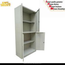 iron & glass 4 doors lockable storage cupboard / tall steel 4 doors office storage cabinet