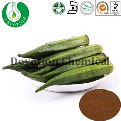 100% Natural Qualified Chinese Herb Okra Extract dried Powder