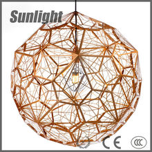 gold and silver fireworks metal cage lamp Loft retro ball shade Chandeliers industrial pendant lamp/light/linghting