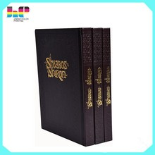 Hot stamping surface book printing high quality silk cover / leather cover book printing