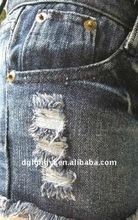 2012 new design cotton slub twill denim fabric&washed denim &spandex denim