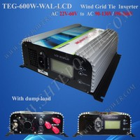 Grid Tie Inverter Wind Turbine 600W 3-Phase Inverter AC 22V-60V Input