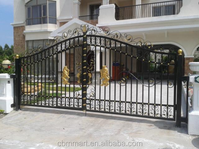 Casa de la puerta puerta de hierro para el hogar vila - Cercas de hierro ...