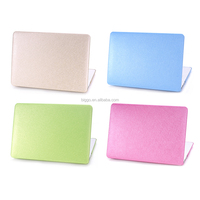 Hot Sale Leather Tablet Silk leather Case For macbook, PU Leather Case For Macbook pro air retina