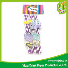 Factory Direct Printed Paper Straw In Bar Drinking Straw Factory