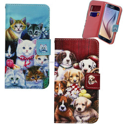 New Design Cartoon PU Leather Flip Wallet Case Cover For Samsung Galaxy