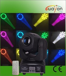 With led remote controlled dimmer mini 7 gobos+white 10w moving head led strobe light