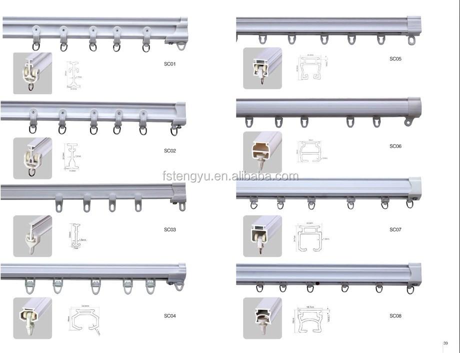 guias para cortinas correderas materiales de