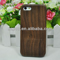 Mobile phone black walnut shell case wood case for iphone 5