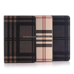 Lattice style Wallet Leather Case cover For apple ipad mini 4 with stand and card slots