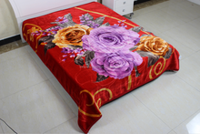 2015 Hot selling Polyester Rascehl Blanket Made in China