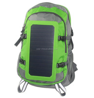 mini solar panel backpack with mobile charger for hiking/camping
