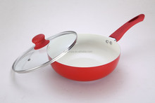 OEM Ceramic Aluminum Wok with Glass Lid