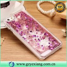 Wholesale cheap price liquid cell phone case for iPhone 6 liquid glitter phone case