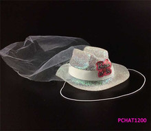 Bride to Be Mini White Cowboy Hat NEW
