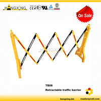 TB08 Water Fill Reflective Retractable Plastic Barrier