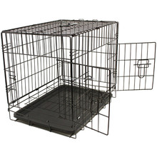 "36"" Pet Kennel Cat Dog Folding Steel Crate Animal Wire Metal Cage"
