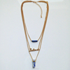 sample three layer gold chain necklace,custom printed necklace (swtaa971)
